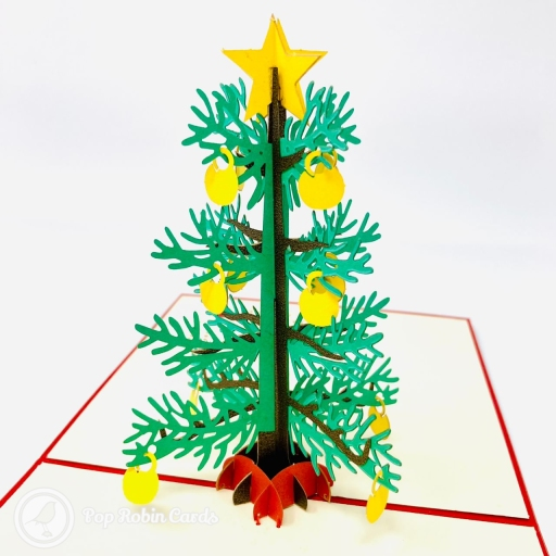 Christmas Tree 3D Handmade Pop Up Christmas Card