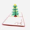 Christmas Tree 3D Handmade Pop Up Christmas Card #3664