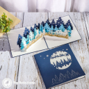Christmas Forest Village 3D Pop Up Christmas Card #3451