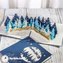 Christmas Forest Village 3D Pop Up Christmas Card #3454