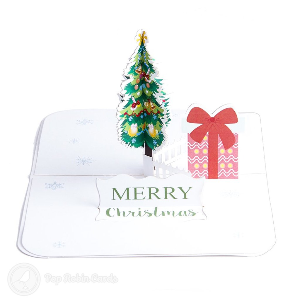 Christmas Tree And Present Box 3D Pop-Up Christmas Card #2551