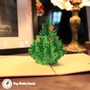 Christmas Tree with Baubles Handmade 3D Pop-Up Card #2091