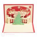 Christmas Tree with Bell Design 3D Pop-Up Card 1754