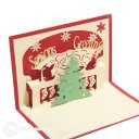 Christmas Tree with Bell Design 3D Pop-Up Card (Red) 1753