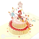 3D Pop-Up Greetings Card #3166