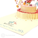 Clown On Birthday Cake Handmade 3D Pop Up Birthday Card #3167