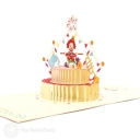 Clown On Birthday Cake Handmade 3D Pop Up Birthday Card #3169