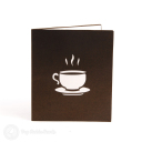 Steaming Coffee Cup Handmade 3D Pop Up Card #2964