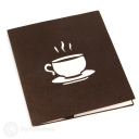 Steaming Coffee Cup Handmade 3D Pop Up Card #2965