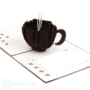 Steaming Coffee Cup Handmade 3D Pop Up Card #2967