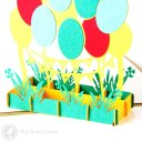Colourful Balloon 3D Pop-Up Birthday Greeting Card  1615