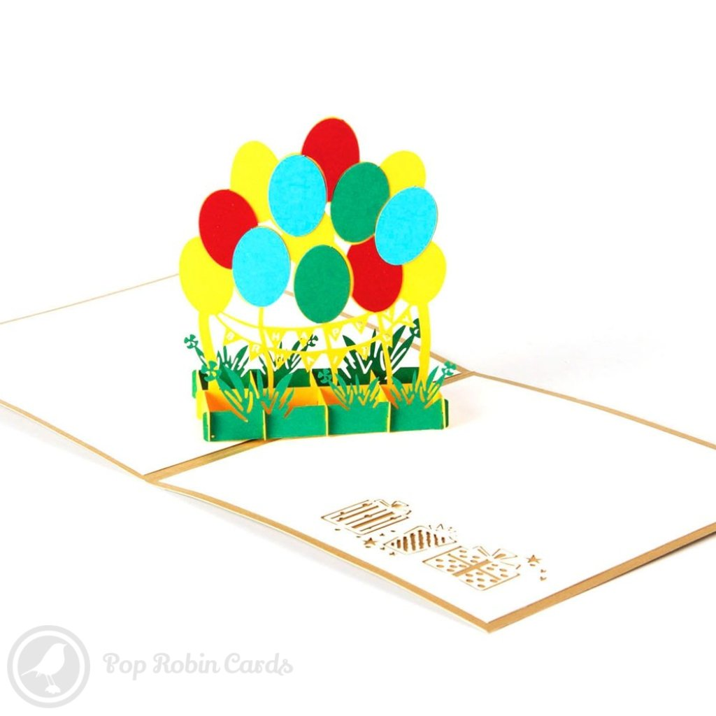 Colourful balloon 3d pop up birthday greeting card pop robin cards colourful balloon 3d pop up birthday greeting card m4hsunfo