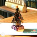 Colourful Christmas Tree & Presents Handmade 3D Pop-Up Christmas Card #2386