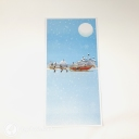 Colourful Reindeer & Santa Sleigh 3D Handmade Pop Up Christmas Card #3692