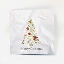 Colourful Reindeer & Santa Sleigh 3D Handmade Pop Up Christmas Card #3695