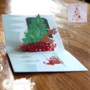 Colourful Rudolf & Christmas Tree 3D Pop-up Christmas Card 1817