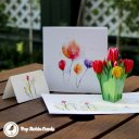 Colourful Tulips 3D Pop Up Greetings Card 1907