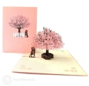 Falling In Love Cherry Blossom 3D Pop-Up Romantic Card #2801