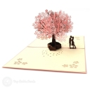 Falling In Love Cherry Blossom 3D Pop-Up Romantic Card #2802