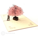 Falling In Love Cherry Blossom 3D Pop-Up Romantic Card #2805