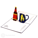 Dad Loves Beer Handmade Pop Up Card #3127