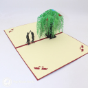 Romantic Couple Dancing Under Willow Tree 3D Pop Up Card #3227