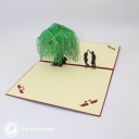 Romantic Couple Dancing Under Willow Tree 3D Pop Up Card #3232