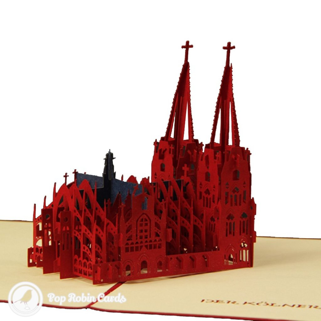 Der Kölner Dom Cathedral Handmade 3D Pop-Up Card #2304