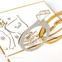Diamond Ring 3D Pop up Congratulations Card 1855