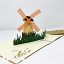 Dutch Windmill In Field 3D Handmade Pop Up Greetings Card #3849