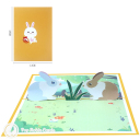 Easter Rabbits In Meadow 3D Greetings Card #3345