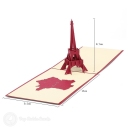 Eiffel Tower & France 3D Pop-Up Architecture Card #2797