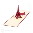 Eiffel Tower & France 3D Pop-Up Architecture Card #2798