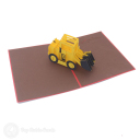 Big Yellow Digger Handmade Pop Up Card #3218