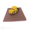 Big Yellow Digger Handmade Pop Up Card #3220