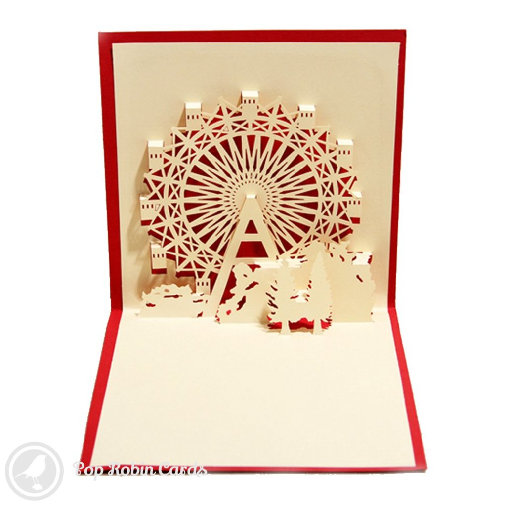 Ferris Wheel Stencil 3D Pop-Up Greetings Card 1569