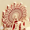 Ferris Wheel Stencil 3D Pop-Up Greetings Card 1571