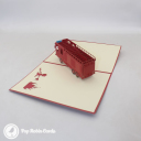 Red Fire Engine Handmade 3D Pop Up Card #3239