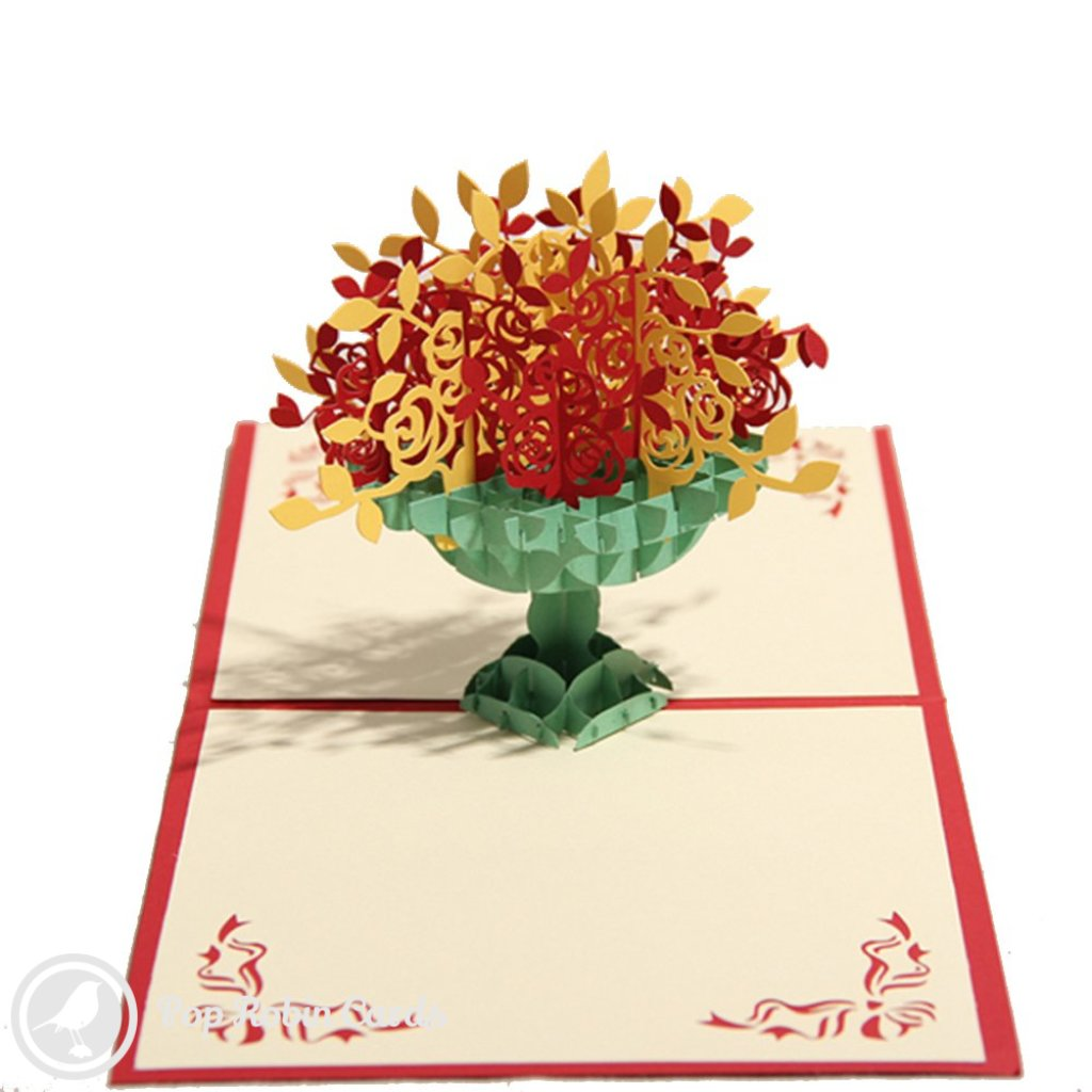 Flower Vase 3D Pop-Up Greeting Card 1354