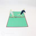 Football Friendly Match Handmade 3D Pop Up Card #3026