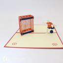 Football Player Scoring A Goal 3D Pop Up Card #3069