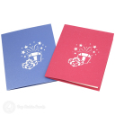 Cute Gift Box With Ribbon Handmade 3D Card #3181