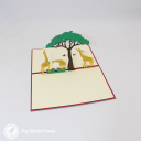 Giraffe Herd On Savannah Handmade 3D Pop Up Card #3037
