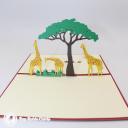 Giraffe Herd On Savannah Handmade 3D Pop Up Card #3038