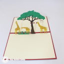 Giraffe Herd On Savannah Handmade 3D Pop Up Card #3039