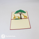 Giraffe Herd On Savannah Handmade 3D Pop Up Card #3040