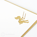 Girl On Swing Under Tree Handmade 3D Card #3145