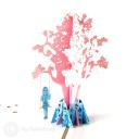 Girl On Swing Under Tree Handmade 3D Card #3149