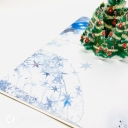 Green Christmas Tree & Blue Baubles 3D Pop Up Christmas Card #3657