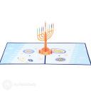 Hanukkah Menorah 3D Pop Up Card #3915